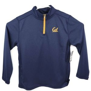Cal Bears Womens Sweatshirt Blue Yellow 1/4 Zip Ch